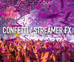 CONFETTI / STREAMER FX